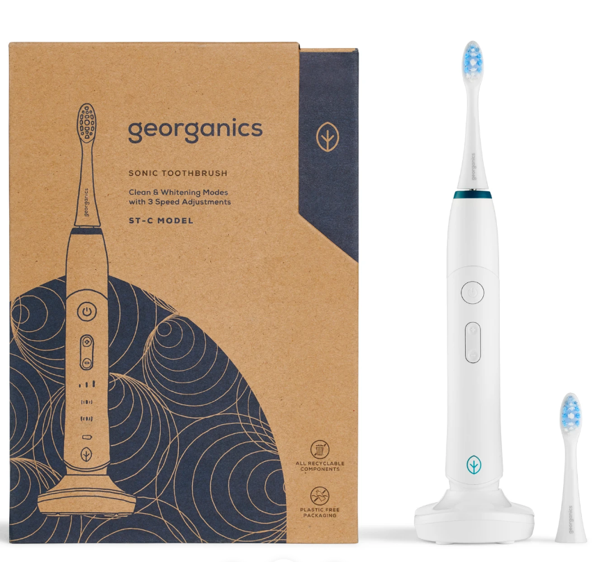 Replaceable head toothbrush: Bamboo, manual, automated, interchangeable heads, replaceable bristles for eco-friendly zero-waste clean teeth!