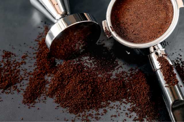 Reusing coffee grounds