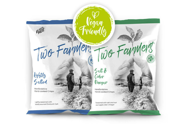 Crisps in compostable packaging