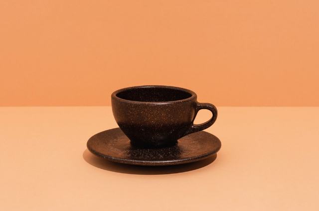 Coffee Grounds into cups
